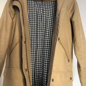Jcrew petite chateau trench coat (size 4)